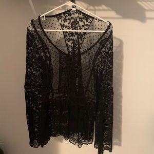 Torrid lace longe sleeve shirt